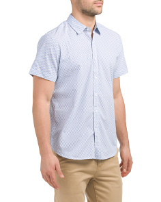 Short Sleeve Mini Geo Print Shirt