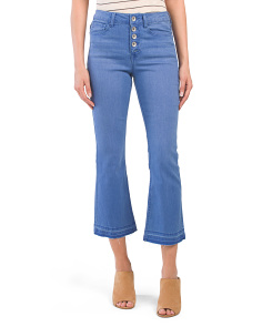 Juniors High Waist 5 Button Jeans