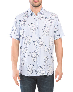 Short Sleeve Pineapple Print Shirt