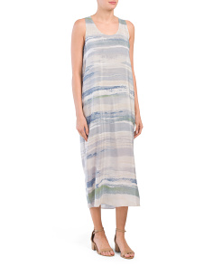 Silk Blend Petite Watercolor Dress