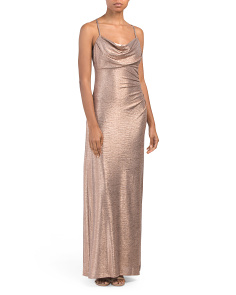 Metallic Long Gown