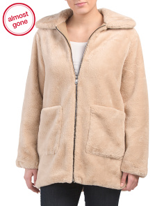 Brush Faux Fur Coat