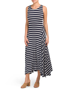 Stripe Jersey Maxi Dress