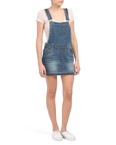 Juniors Dark Wash Skirtall