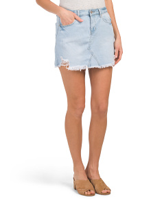 Juniors Denim A Line Skirt