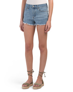 Juniors Super High Waist Fray Hem Shorts
