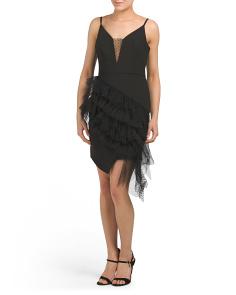 Illusion Asymmetrical Party Dress