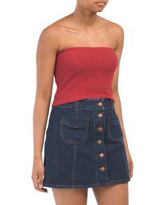 Made In Usa Ribbed Tube Top
