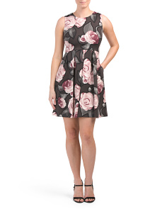 Petite Floral Fit And Flare Dress