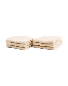 6pk Embroidered Wash Towels