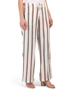Dara Striped Linen Blend Pants
