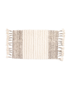 Tufted Boho Bath Rug