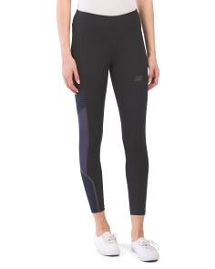 Q Speed Color Block Crop Tights