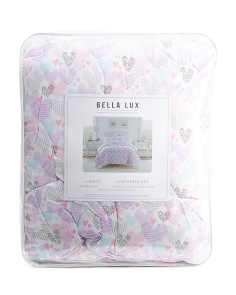 Pattern Hearts Comforter Set
