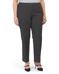 Plus Classic Dot Pique Texture Pants