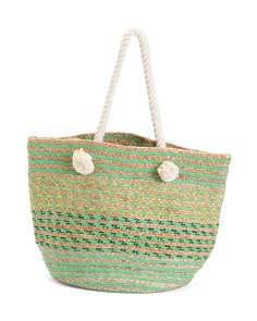 Woven Tote With Rope Handles