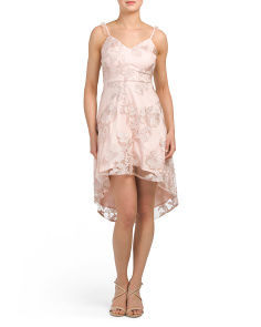 Juniors Hi-lo Lace Dress