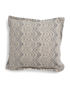 20x20 Linen Swirl Pillow