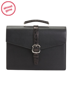 Made In Italy Leather Luxury Briefcase