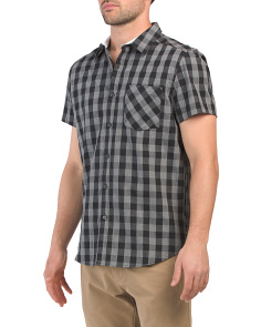 Short Sleeve Heather Check Shirt