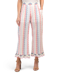 Layla High Waist Rainbow Eyelet Pants