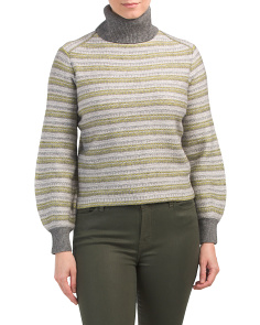 Wool And Cashmere Fair Isle Turtleneck Sweater