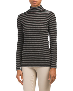 Skinny Rib Turtleneck Cashmere Sweater