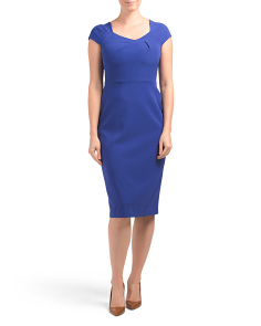 Folded Neck Line Sheath Dress