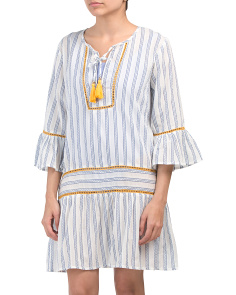 Striped Cover-up Dress