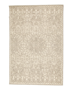5x7 Wool Blend Hand Hooked Rug