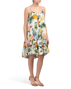 Printed Woven Cover-up Dress