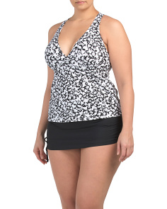 Plus Cape May Floral Tankini With Skirt