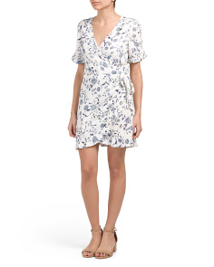 Emma Printed Wrap Dress