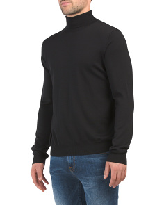 Made In Italy Merino Wool Turtleneck Sweater