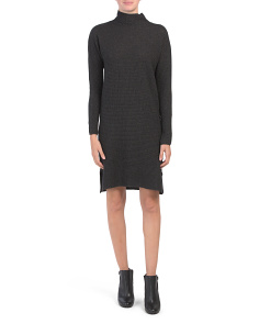 Made In Italy Cashmere Blend Rib Sweater Dress