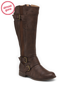 Wide Comfort Knee High Boots