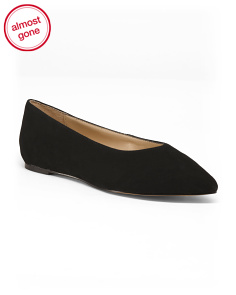 Pointy Toe Suede Flats