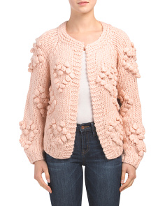Chunky Knit Heart Cardigan