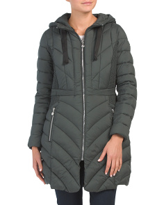 Petite Micro Touch Pongee Puffer Coat