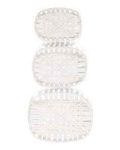Set Of 3 Tobacco Basket Wall Decor