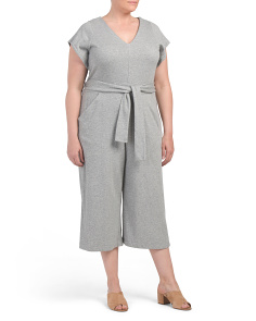 Plus Belted Raquel Casual Jumpsuit