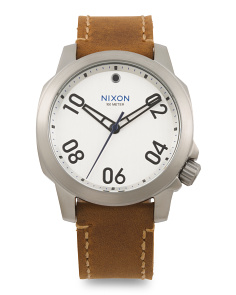 Men's Ranger 40 Leather Strap Watch
