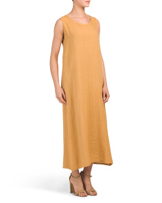 Made In Italy Linen Maxi Dress
