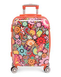 20in Floral Hardside Expandable Carry-on