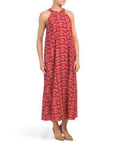 Made In Italy Daisy Print Maxi Dress