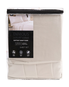 6pc 1200tc Cotton Rich Sheet Set