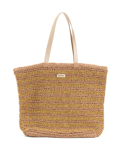 Seychelles Handmade Paper Straw Shoulder Tote