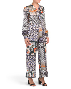 Made In Italy Status Print Jumpsuit