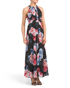 Petite Long Floral Printed Dress