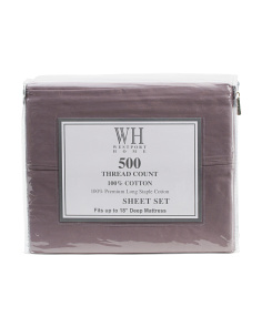 500tc Combed Cotton Sheet Set